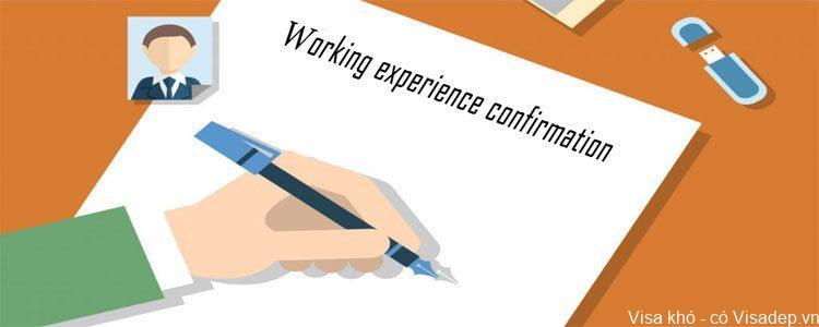 Giấy xác nhận kinh nghiệm làm việc