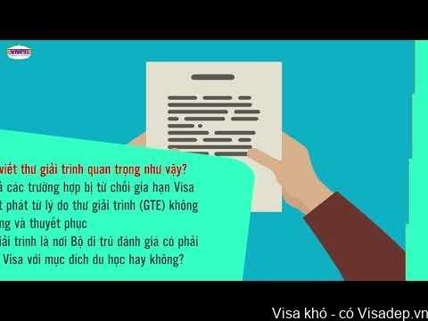 thư giải trình xin visa