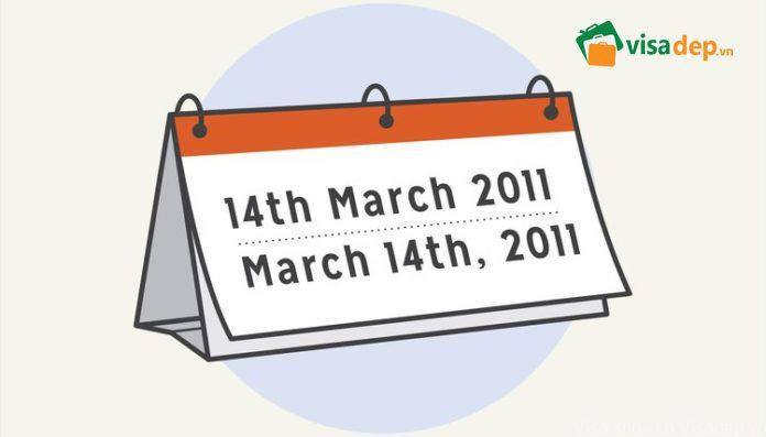 Cách đọc viết ngày tháng trong tiếng Anh