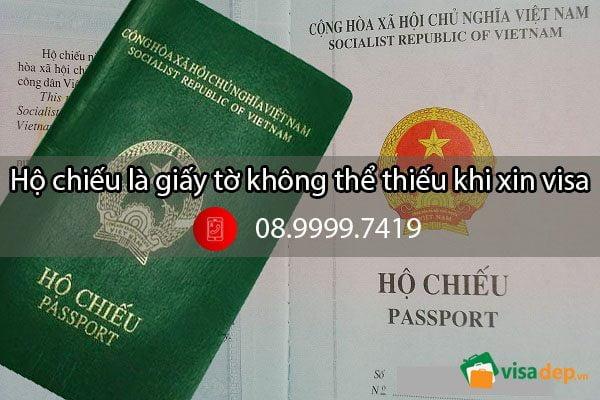 Chụp ảnh làm hộ chiếu