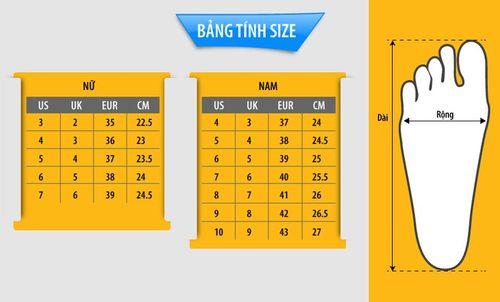Bảng tính cách đo size giày