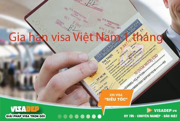 Dịch vụ gia hạn visa 1 tháng 1 lần cho người nước ngoài