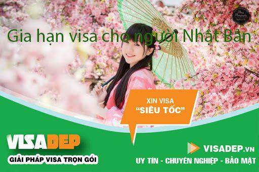 gia hạn visa cho người Nhật Bản
