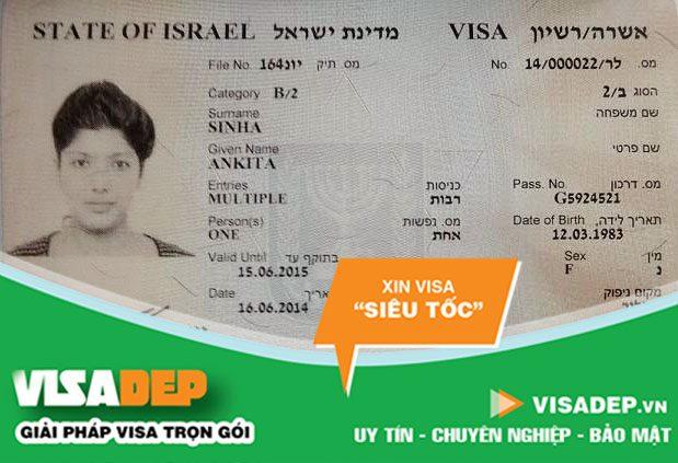 làm visa israel trọn gói