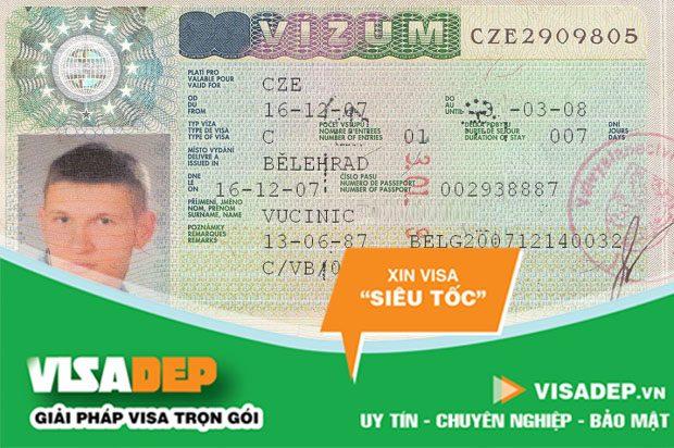 Dịch vụ làm visa séc trọn gói
