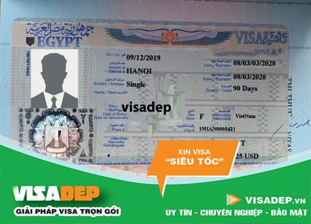xin visa ai cập tự túc