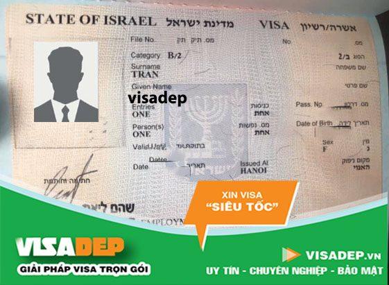 xin visa israel tự túc