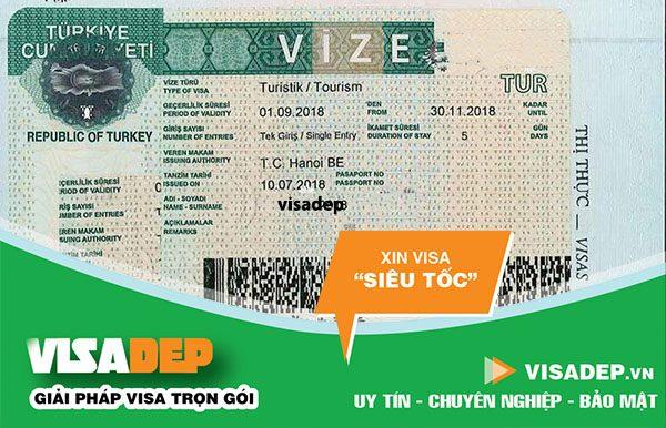 Dịch vụ làm visa thổ nhĩ kỳ trọn gói