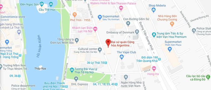 Địa chỉ Đại Sứ Quán Argentina tại Việt Nam