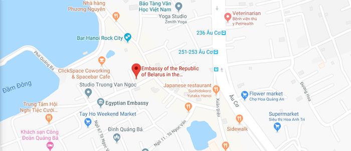 Địa chỉ Đại Sứ Quán Belarus tại Việt Nam