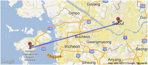 sân bay incheon đến seoul
