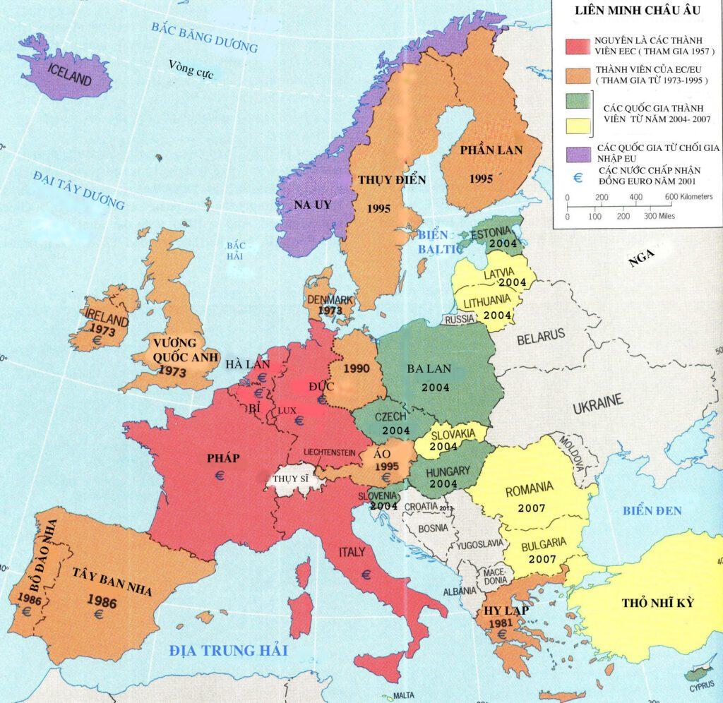 bản đồ châu âu
